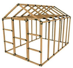 Greenhouse Building Kits - Build your own backyard greenhouse with the help of kits that you can order from Amazon.com