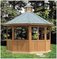 DIY Screened Gazebo Plans - Find plans, material lists and step-by-step instructions by Plans Design at Amazon.com