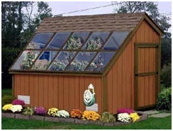 Build a combination potting shed and greenhouse with the help of do-it-yourself plans, material list and instructions by Plans Design at Amazon.com