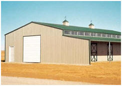 Steel barn building kits from AbsoluteRV.com can save you 40% of the cost of conventional construction.