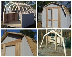Do it yourself backyard mini-barn building plans from Backyard3.com