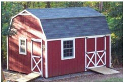 StorageShed-Plans.com has inexpensive, instant download building plans for barn-style sheds in a variety of styles and sizes.