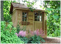 "CabanaVillage.com has a cool online ""Design Center"" that lets you design your own shed, cabana or cabin. Then, you can order plans or an easy-to-assemble cedar building kit."