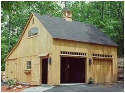 Post & Beam Garage and Barn Building Kits by CountryCarpenters.com