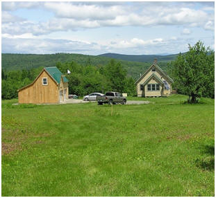The Ashokan Barn is part of this perfect country homestead in Maine. Stock plans for the little pole barn are available from architect Don Berg.