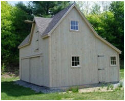 The Ashokan Pole-Barn, Garage and Workshop Plans at BackroadHome.net