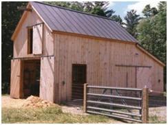 Architect Don Berg's Battenkill Barn is one of dozens of small barn plans that you'll find at BarnsBarnsBarns.com