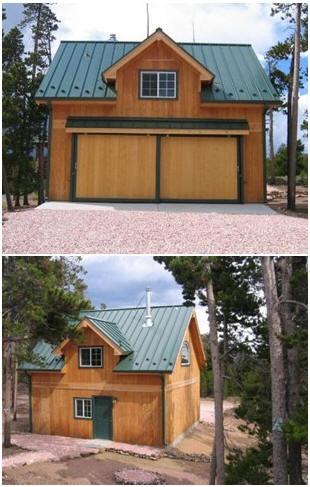 This customized version of the Bethany Country Garage was built in Colorado. Inexpensive plans, by architect Don Berg are available at BackroadHome.net