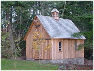 , shed or all-purpose backyard barn. This pretty lawn tractor shed ...