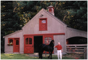 Horse Barn Plans - Order inexpensive blueprints for small, pole-frame ...