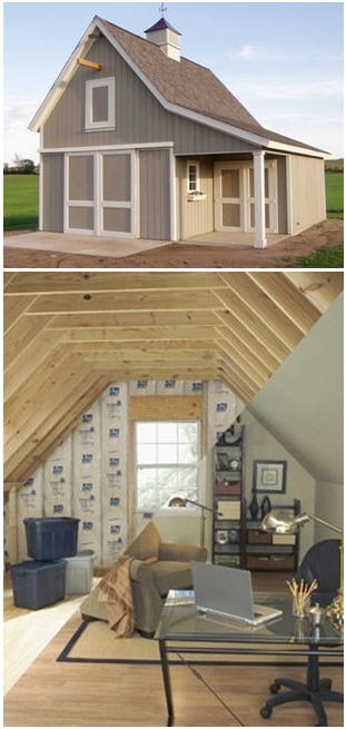 Customers 39 small pole barn garage and workshop plans for Mini barn plans