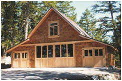 Craftsman Style Carriage House - A customized building from pole-barn plans by architect Don Berg at BackroadHome.net