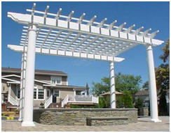 Custom Pergolas from Fifthroom.com - Choose the style, size, finish and options that you need and then have your beautiful new pergola shipped right to you.