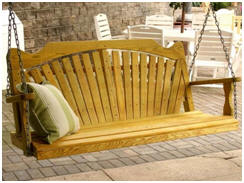 Cedar and Pine Porch Swings in Many Sizes and Styles at Fifthroom.com