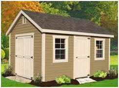Quick Ship Shed Kits from Fifthroom.com - Select from a huge assortment of styles and sizes and have am easy-to-assemble shed kit shipped right to your yard.