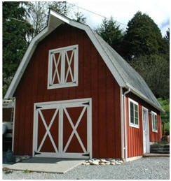 The Yakima Barn - One of dozens of beautiful barn designs available as construction blueprints from HomesteadDesign.com