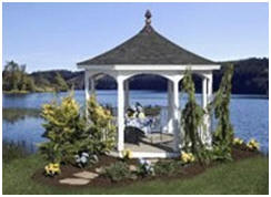 Amish-Built Gazebos from Lancaster County Barns - AmishGazeboShop.com offers elegant and durable gazebos, pavilions, screen rooms and pergolas in cedar, pine and vinyl.