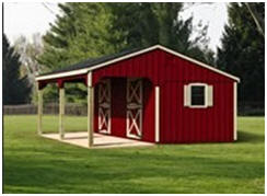 Barn building kits for 2 stall horse barn kits