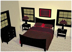 Design your own interior and furniture layout. It's easy, inexpensive and online at Plan3D.com.