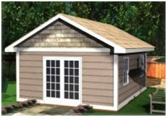 Instant Download Cabana, Studio and Shed Plans from StorageShed-Plans.com