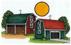 Find country-style shed and yard barn building plans at BackroadHomes.com