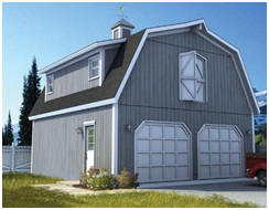 Building plans for this combination barn-style garage and loft workshop are available at WoodStore.com