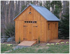 WoodStore.com offere the Telluride Backyard Barn Plans in five different sizes from 8x12 to 12x16. The plans are downloadable, so you can get started today.