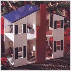 An Open-Wall Dollhouse - Get downloadable, DIY plans to build this great design at WoodStore.com