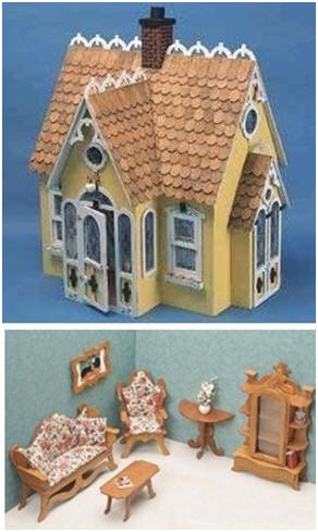 32 different, beautiful Greenleaf dollhouse building kits, dollhouse furniture, accessories and building supplies are for sale at Amazon.com