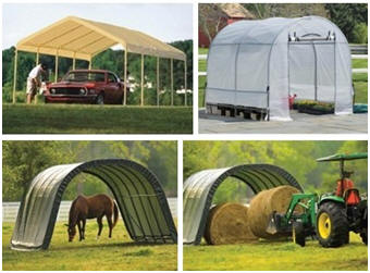 Instant Carports, Barns, Garages and Greenhouses, by ShelterLogic, on Sale at Amazon.com
