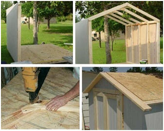 Step-by-step, DIY shed building instructions and plans in nineteen sizes from Backyard3.com