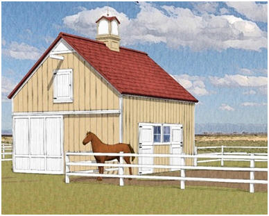 Small chestnut pole barn joy studio design gallery for Small barn with loft